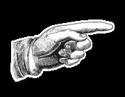 Wandtattoo Vintage Pointing Hand Lieferansicht