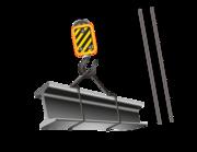 Lieferansicht Wandtattoo Baukran mit Stahlträger