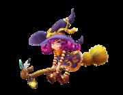 Lieferansicht Wandtattoo Violet die kleine Hexe