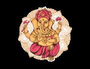 Wandtattoo Ganesha mit Mandala Lieferansicht