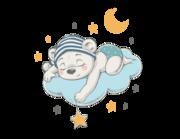 Wandtattoo Schlummerbär Niki auf Wolke Lieferansicht