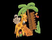 Wandtattoo Messlatte Afrikas Dschungeltiere Lieferansicht
