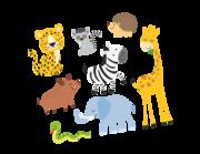 Wandtattoo Afrikas Tierkinder Lieferansicht