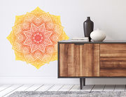 Wandtattoo Mandala – Yellow Red Lace