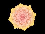 Wandtattoo Mandala – Yellow Red Lace Lieferansicht