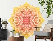 Wandtattoo Mandala – Yellow Red Lace