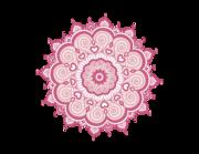 Wandtattoo Mandala - Pink Paisley Lieferansicht