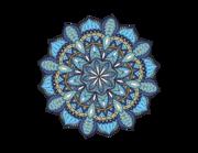 Wandtattoo Mandala - Blue Ethno Style Lieferansicht