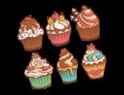 Wandtattoo Sweet Vintage Cupcakes Lieferansicht