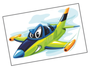 Wandtattoo Flugzeug Lindbergh Lieferansicht