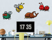 Wandtattoo Pixel Bugs