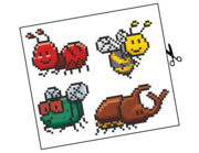 Wandtattoo Pixel Bugs Lieferansicht