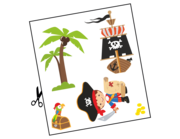 Wandtattoo Toby der kleine Pirat Lieferansicht