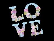 Wandtattoo Vintage Love Letters Lieferansicht