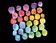 Wandtattoo Watercolor Dots Lieferansicht