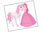 Wandtattoo Prinzessin Estelle & Pferd Gaston Lieferansicht