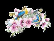 Wandtattoo Frühlings Komposition in Aquarell Lieferansicht