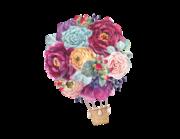 Wandtattoo Floral Air Baloon Lieferansicht