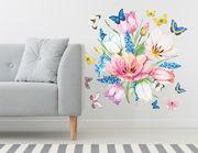 Wandtattoo Spring Flowers & Butterflies