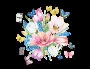 Lieferansicht Wandtattoo Spring Flowers & Butterflies