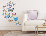 Wandtattoo Butterflies in Watercolor