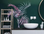 Wandtattoo Palmenblätter in Aquarell