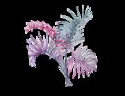 Wandtattoo Palmenblätter in Aquarell Lieferansicht