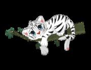 Wandtattoo Vik der weiße Tiger Lieferansicht