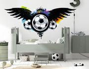 Wandtattoo Fußball beflügelt Graffiti