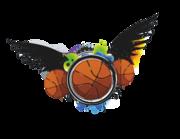 Wandtattoo Basketball beflügelt Graffiti Lieferansicht