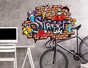 Wandtattoo Graffiti Street Life
