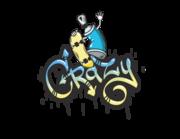 Lieferansicht Wandtattoo Crazy Skateboard Graffiti