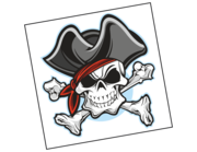 Wandtattoo Piratenkopf Captain Jack Red Lieferansicht