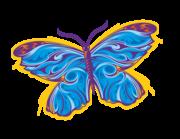 Wandtattoo Tribal-Butterfly in Blue Lieferansicht