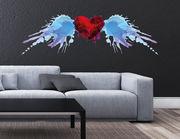 Wandtattoo Watercolor Flying Heart