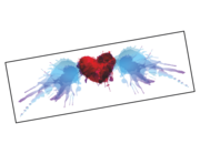 Lieferansicht Wandtattoo Watercolor Flying Heart