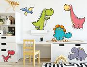 Wandtattoo Die Cartoon Dino Bande