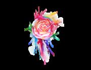 Lieferansicht Wandtattoo Watercolor Rose