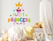 Wandtattoo Sweet Princess Cupcake