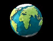 Lieferansicht Wandtattoo Polygon Erde