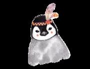 Lieferansicht Wandtattoo Baby Pinguin Melody