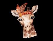 Lieferansicht Wandtattoo Baby Giraffe Zora