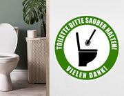 Wandtattoo Toilette sauber halten