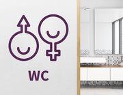 Wandtattoo WC Zeichen Peppin