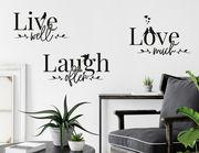 Wandtattoo Live well, Laugh often, Love much