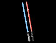 Lieferansicht Wandtattoo Laserschwerter