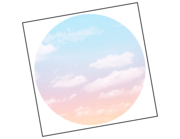 Lieferansicht Wandtattoo Rainbow Sky