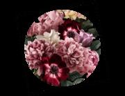 Lieferansicht Wandtattoo Gartenblumen