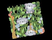 Lieferansicht Wandtattoo Koala Tapsi-Tari