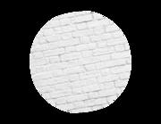 Lieferansicht Wandtattoo Weiße Backsteinmauer